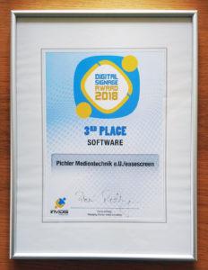 Digital Signage Award 2018 easescreen