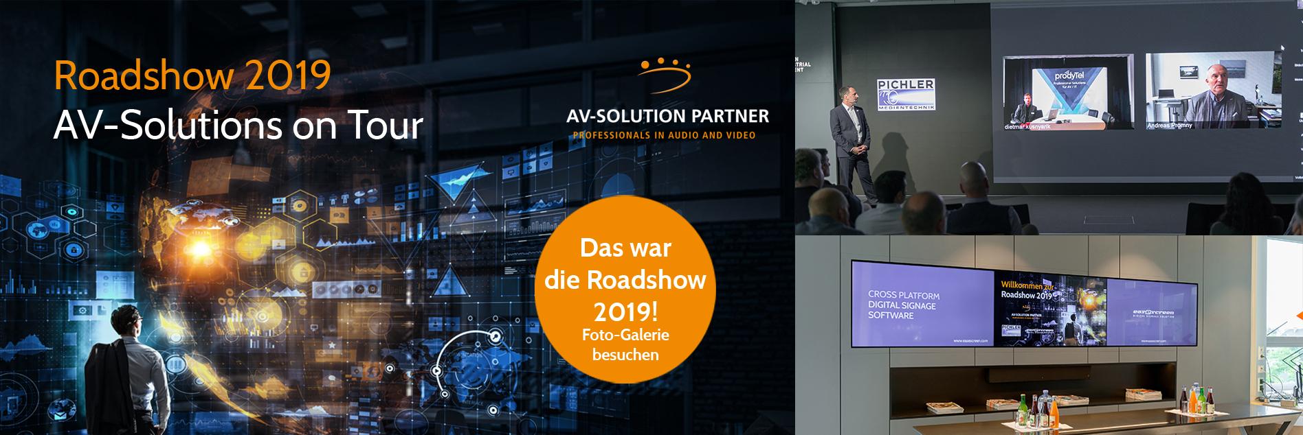 Header Bild, easescreen, Pichler Medientechnik Roadshow 2019