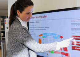 OSS, Wegeleitung, Touch-System, Interaktiv, Patienteninformation